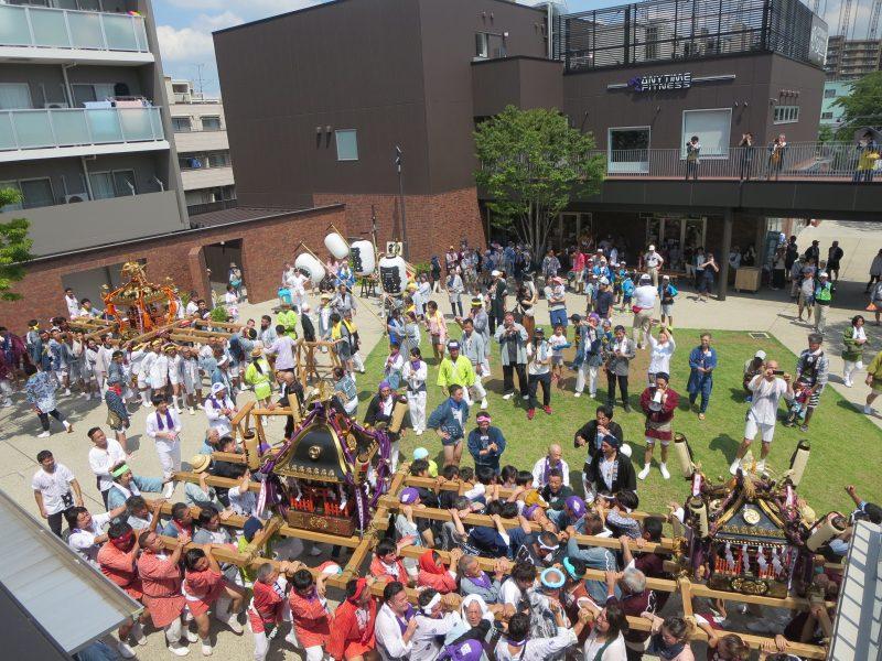 コトニアガーデン新川崎に第5回北加瀬神輿パレードがやってきました!