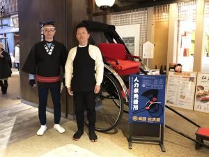 【期間限定】人力車発着所がオープン!